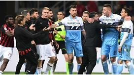 تغريم 6 لاعبين في شجار بين لاعبي ميلان ولاتسيو